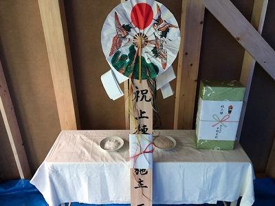 東大阪で棟上げ奈良の木の家平野木材