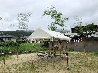 奈良の注文住宅の会社平野木材の地鎮祭