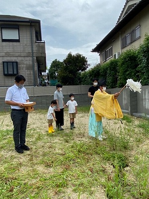 奈良で注文住宅の会社平野木材の地鎮祭