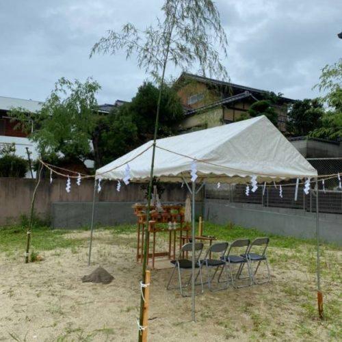 奈良で注文住宅木の家の地鎮祭平野木材