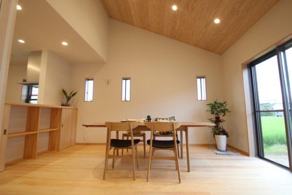 奈良で注文住宅の木の家勾配天井なら平野木材