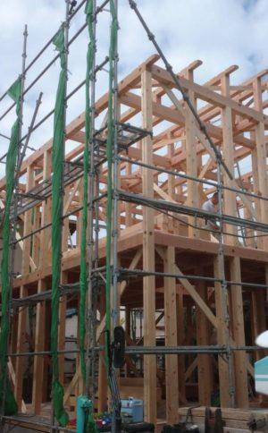 奈良で注文住宅の木の家棟上げなら平野木材
