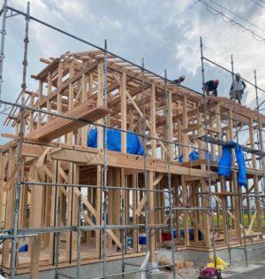 奈良で注文住宅木の家棟上げなら平野木材