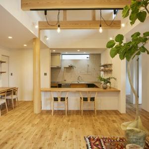 奈良で奈良県産材の木の家リビングなら平野木材