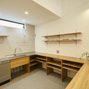 奈良でオーダーキッチン平屋なら平野木材
