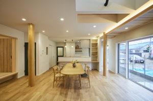 奈良でパッシブデザインのリビングなら平野木材