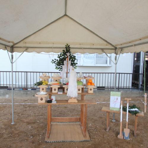 奈良で木の家地鎮祭なら平野木材
