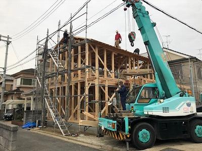奈良で木の家棟上げなら平野木材