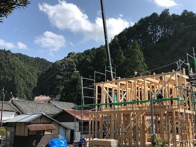 奈良明日香で木の家棟上げ平野木材