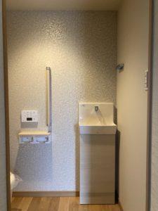 奈良の木の家注文住宅工務店の平野木材がリフォームしたトイレ