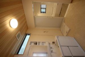 奈良で木の家注文住宅浴室天井板張りなら平野木材