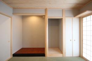 奈良で木の家注文住宅の床の間和室なら平野木材