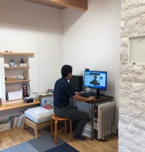 奈良で木の家注文住宅の工務店平野木材のZOOM打ち合わせ
