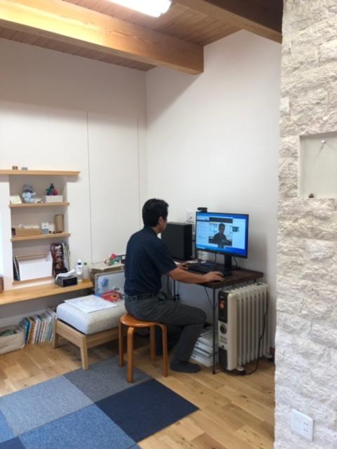 奈良の注文住宅の工務店の平野木材のZOOM打ち合わせ